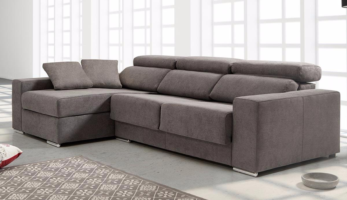 Chaise longue barcelona barcelona graphite blue sectional for Chaise longue individual barato