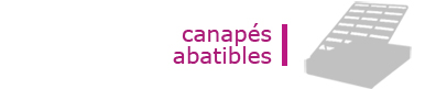 Canapes abatibles