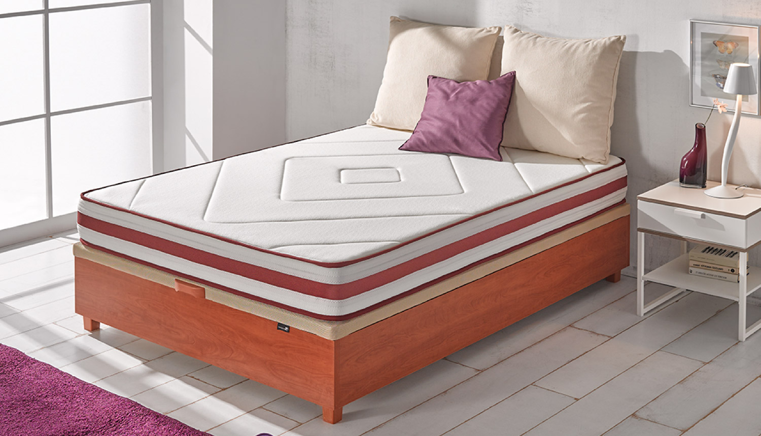 Cama con canape abatible simple canape abatible cheap for Canape abatible