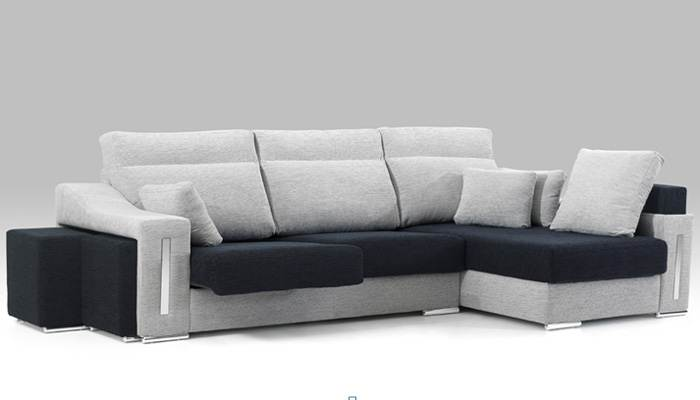 Chaise longue confort online vega for Sofas de piel con cheslong