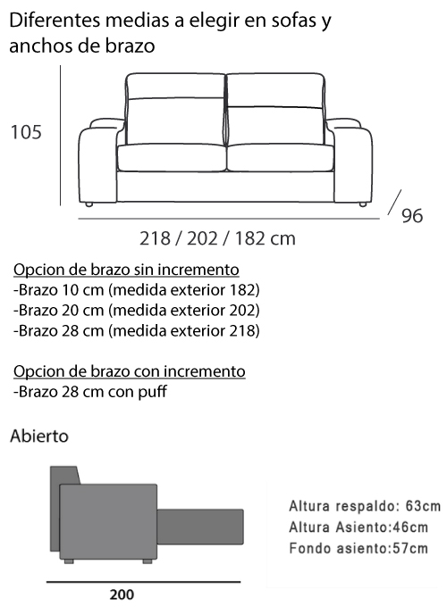 Medidas sofa great medidas de sof de canto with medidas for Medidas sofa cama 2 plazas